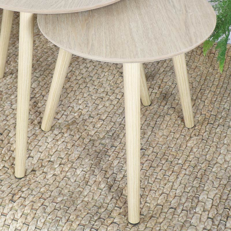 Set of 3 Round Scandi Nest of Tables