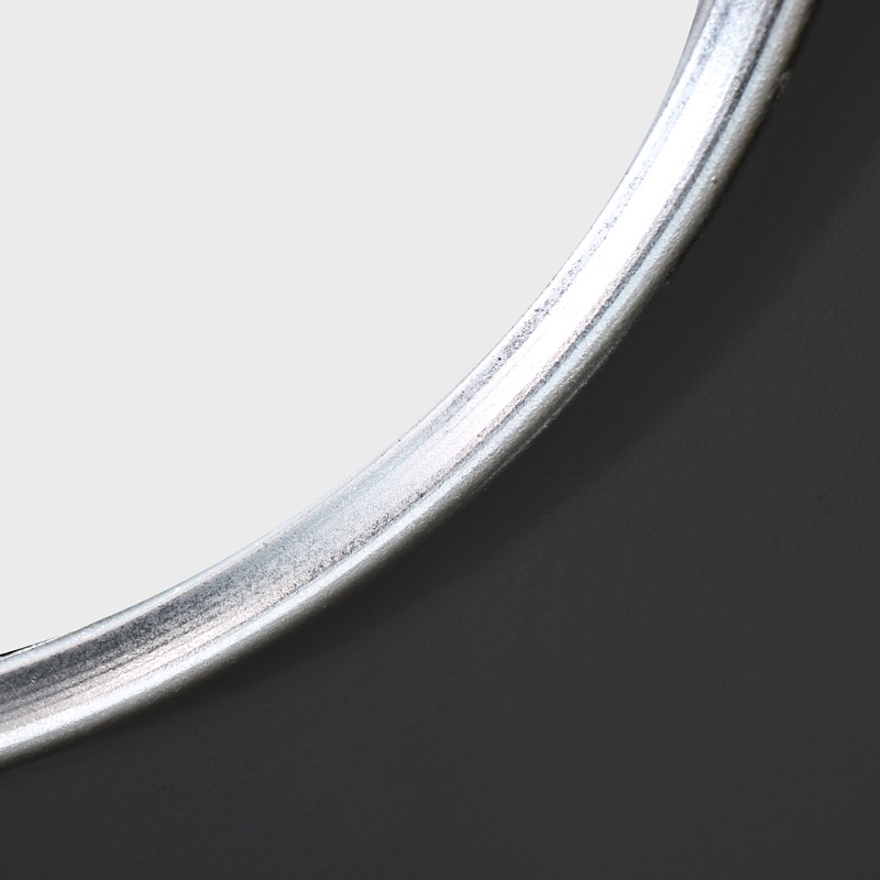 Set of 3 Round Silver Wall Mounted Mirrors