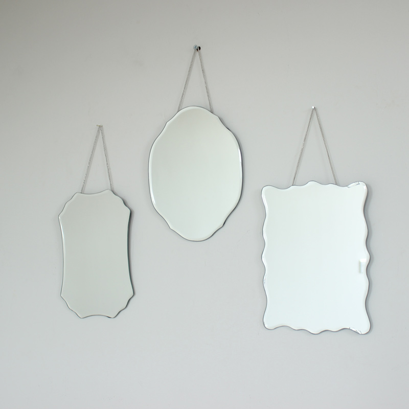 Set Of 3 Wall Mirrors Melody Maison