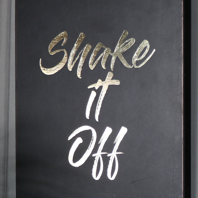 """""""Shake it Off"""" Black and Gold Wall Plaque"""