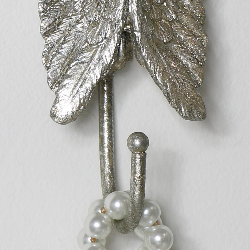 Silver Angel Wing Coat Hook
