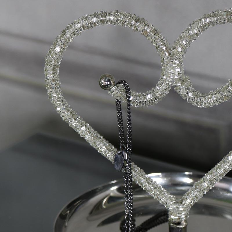 Mirrored Metal Decorative Tray Bead