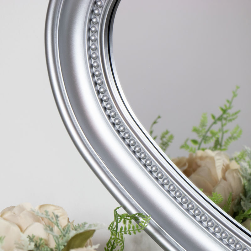 Silver Heart Wall Mounted Mirror