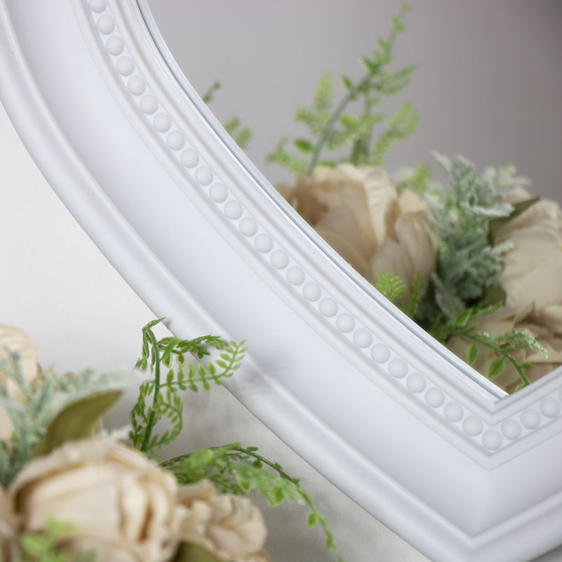 White Heart Wall Mounted Mirror