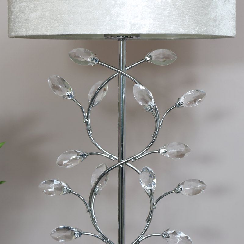 Silver Jewelled Table Lamp