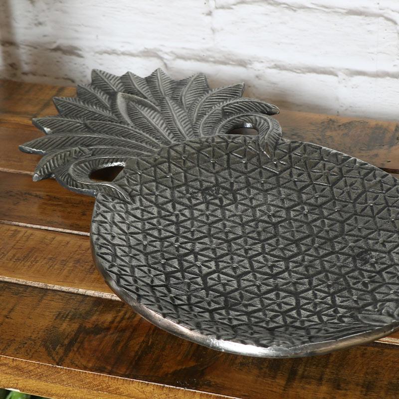 Silver Metal Pineapple Display Trinket Display Tray