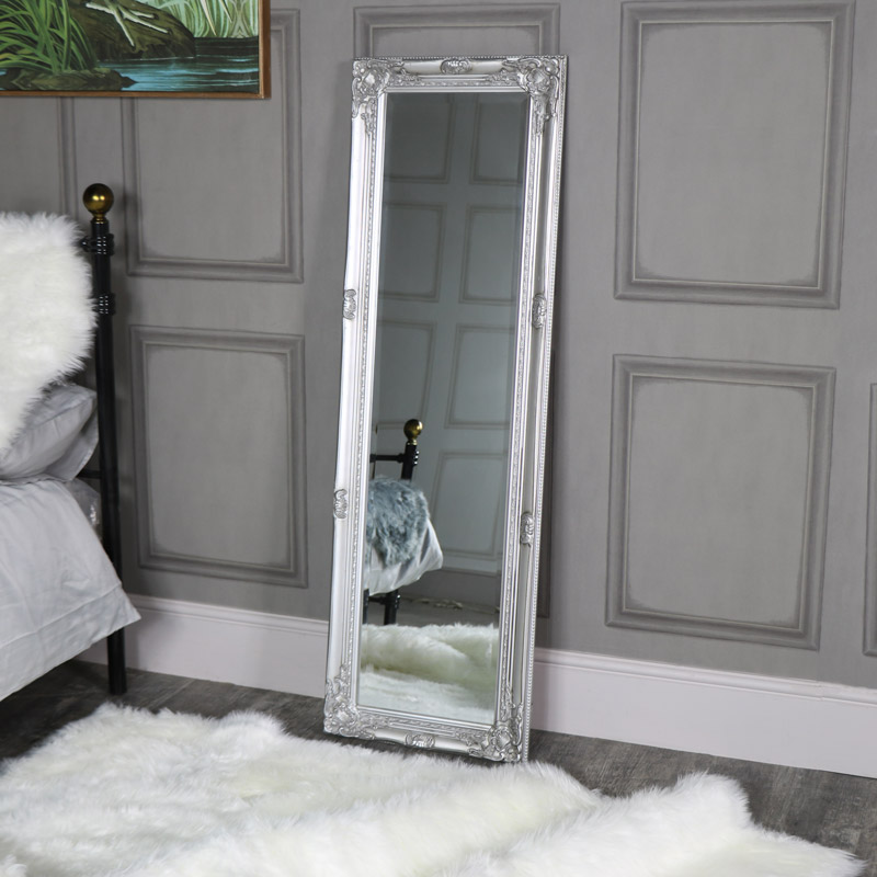 Tall Slim Silver Mirror