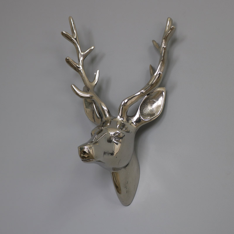Silver Wall Mounted Stag Head Melody Maison