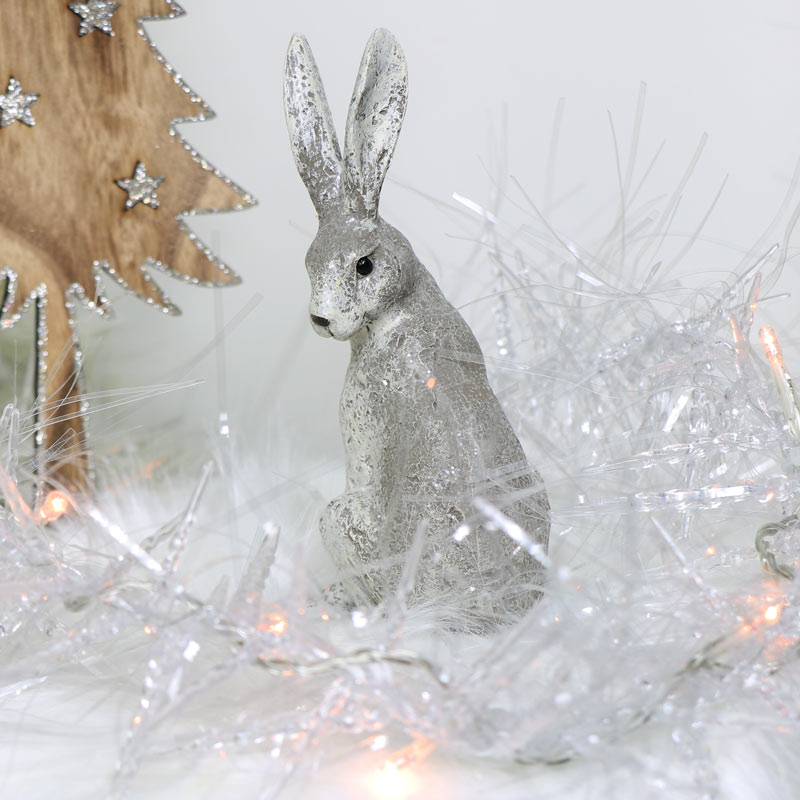 Sitting Hare Christmas Ornament