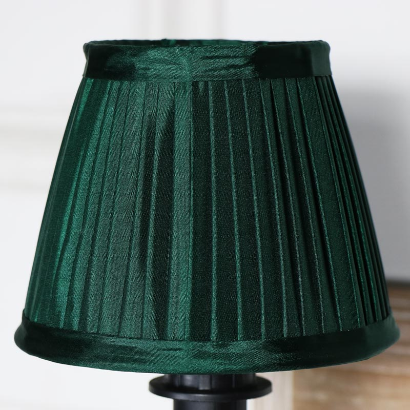 Small Emerald Green Pleated Lamp Shade