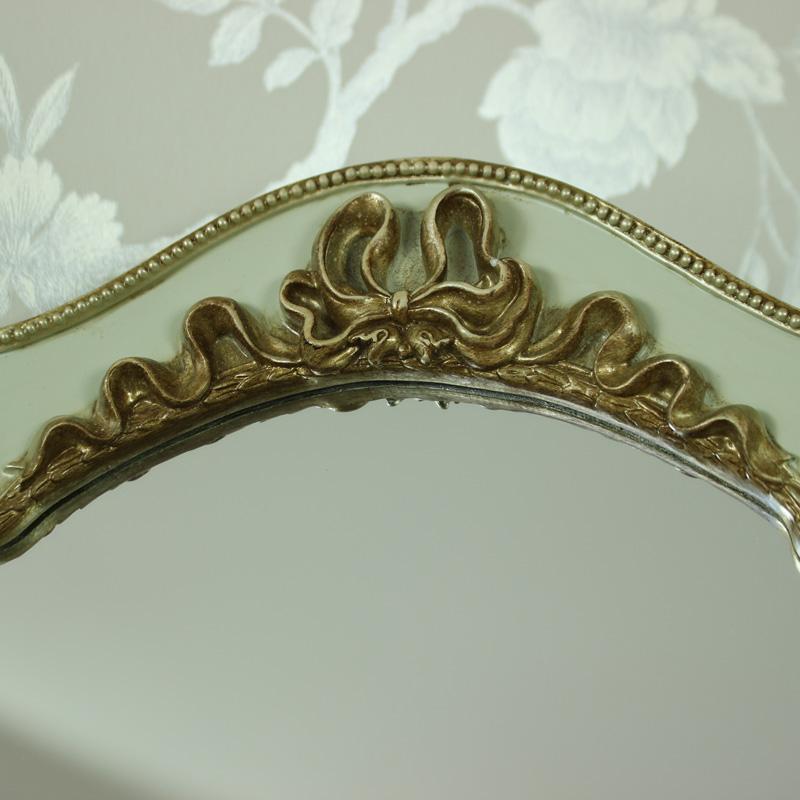 gr n gold tischplatte wandbehang schminkspiegel vintage chic ebay. Black Bedroom Furniture Sets. Home Design Ideas