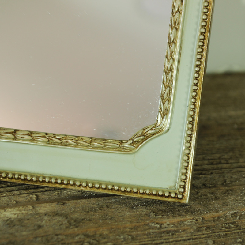 Small gold green vintage tabletop wall hanging vanity for Small gold mirror