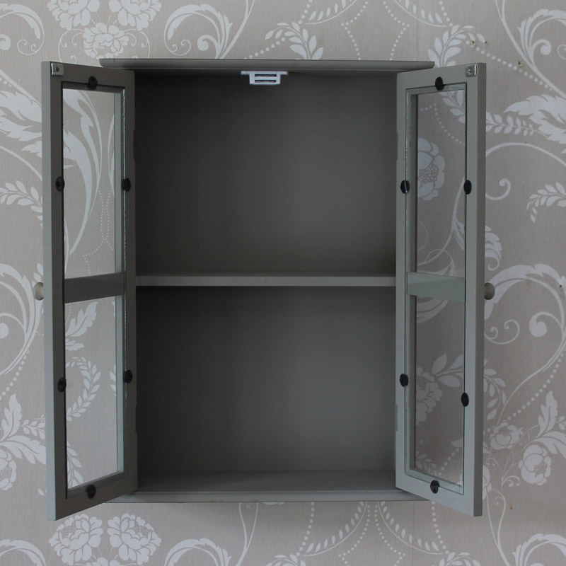 glass fronted bathroom cabinets grey two drawer cabinet bathroom storage makeup perfume 15868