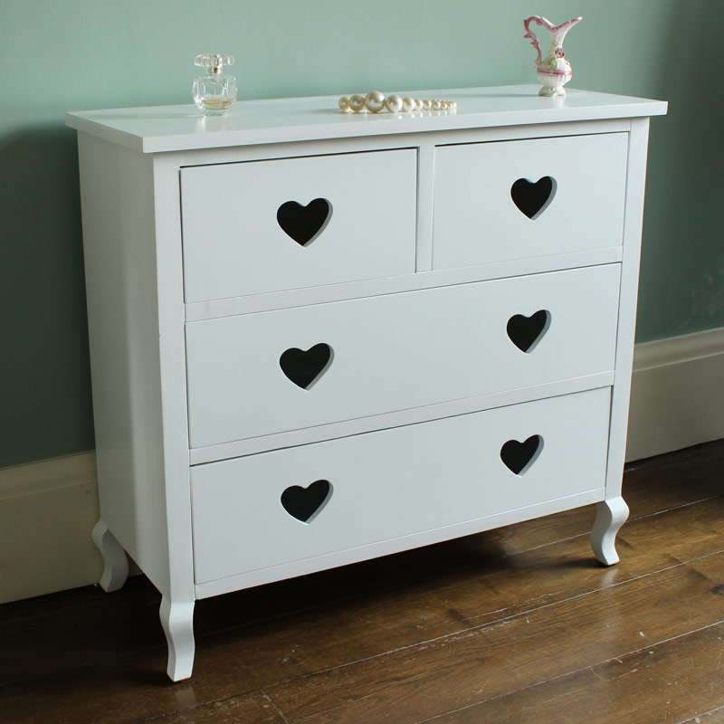white heart chest of drawers girls bedroom dressing room french