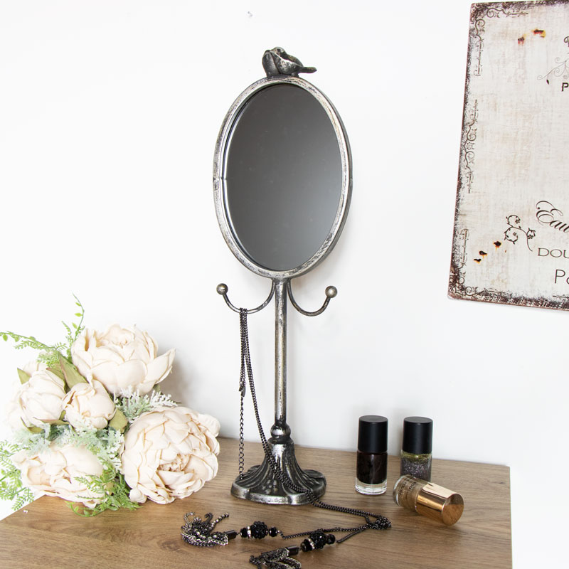 Table Top Mirror with Jewellery Holder