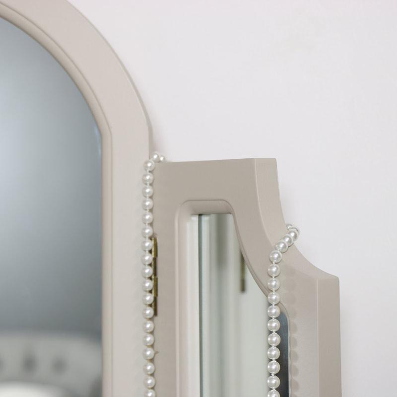 Grey Tabletop Triple Vanity Mirror - Daventry Taupe-Grey Range