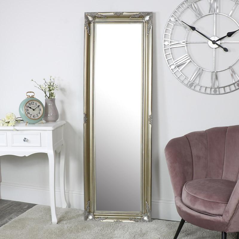 Tall Champagne Wall Mirror