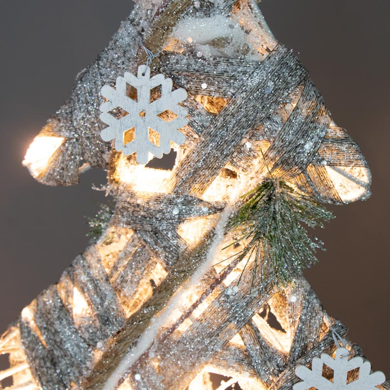 Tall Glitter Frosted LED Christmas Tree
