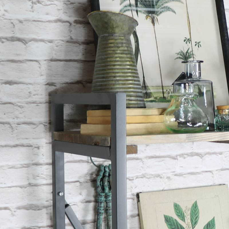 Tall Industrial Style Metal Shelving Unit