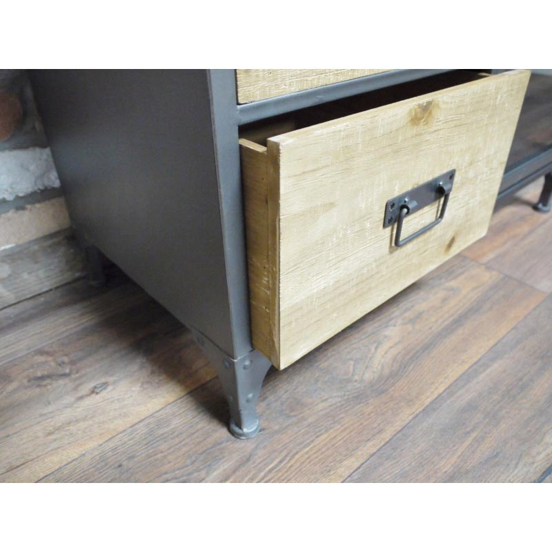 Tall Metal Industrial Style Storage Cabinet