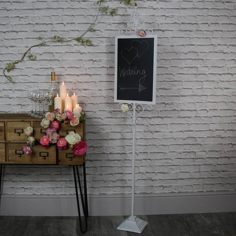 Tall Ornate Freestanding Chalkboard Stand