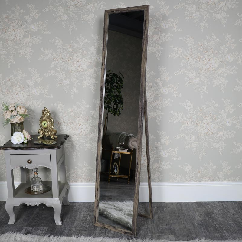 Large Rustic Wall/Floor Mirror 34cm x 154cm - LISTING INCOMPLETE ...