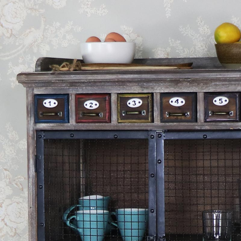 Tall Rustic Industrial Apothecary Cabinet