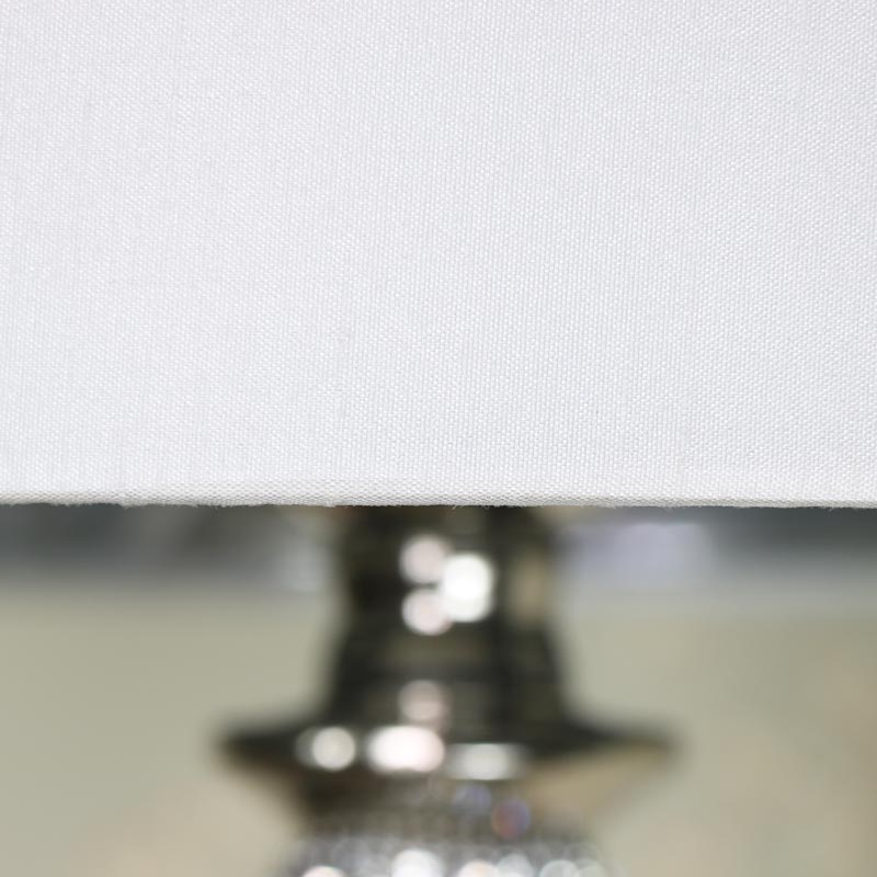 Tall Silver Diamante Table Lamp