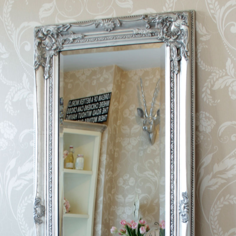 Tall silver slim mirror melody maison for Tall slim mirror