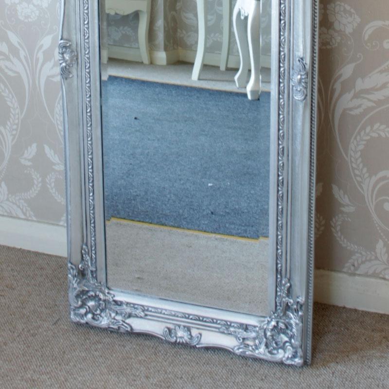 Tall Silver Slim Mirror Melody Maison 174