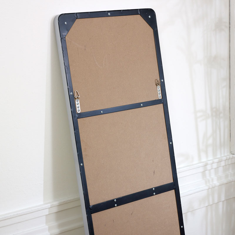 Tall Silver Wall / Floor / Leaner Mirror 47cm x 142cm