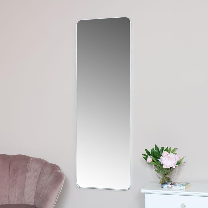 Tall White Wall / Floor / Leaner Mirror 47cm x 142cm