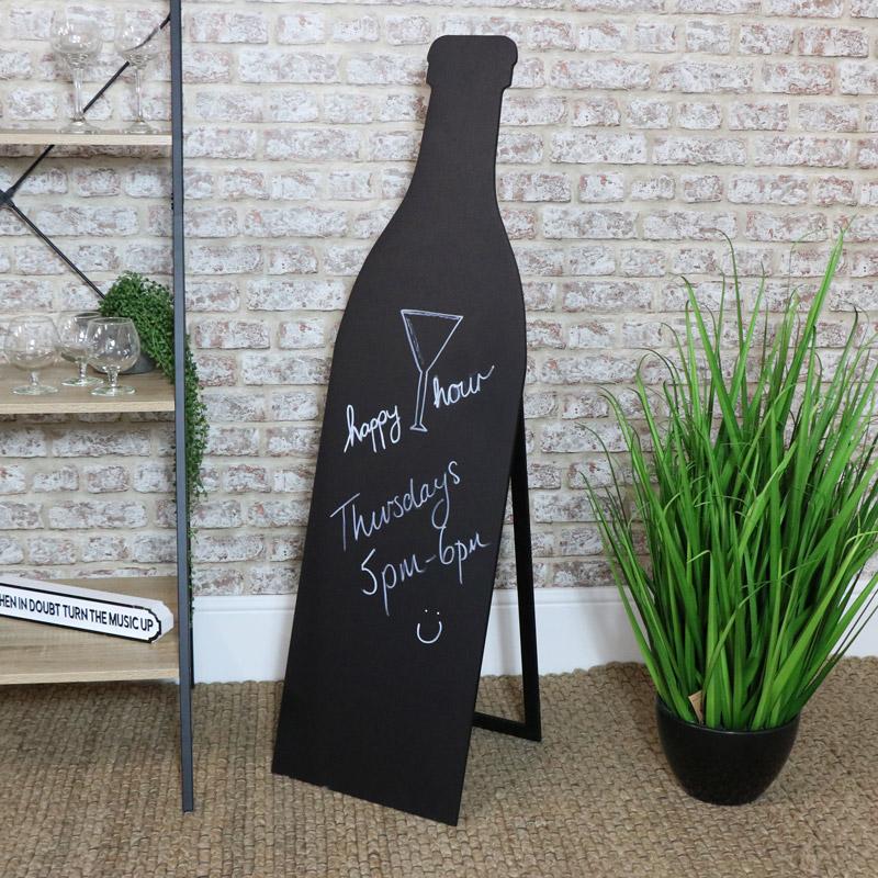Tall Wine Bottle Blackboard