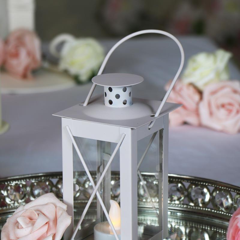 Taupe Colour LED Candle Lantern