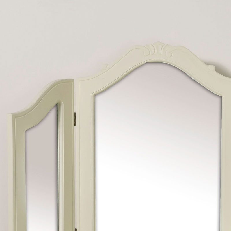 Triple Dressing Table Mirror - Elise Cream Range