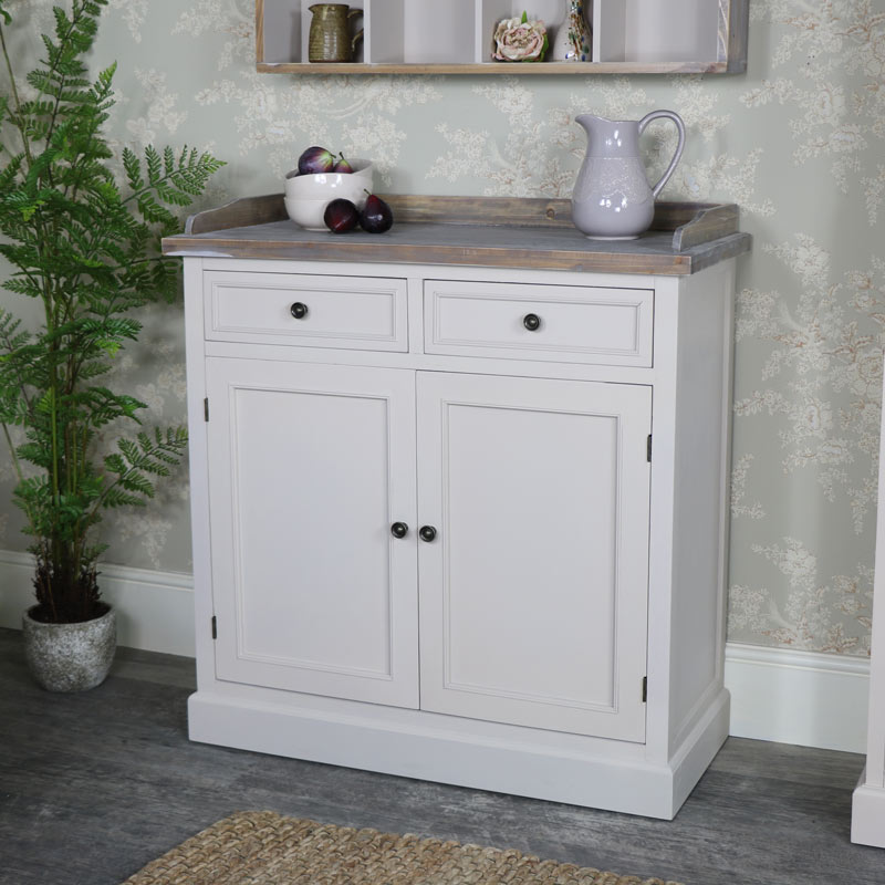 Two Drawer Cupboard Storage Cabinet - Cotswold Range