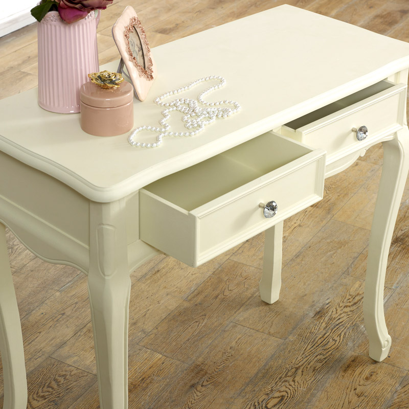 Two Drawer Dressing Table - Elise Cream Range