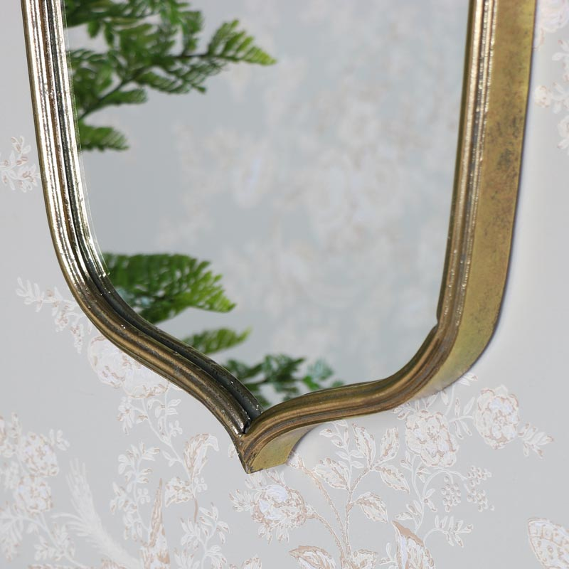 Vintage Antique Gold Wall Mirror 35cm x 99cm