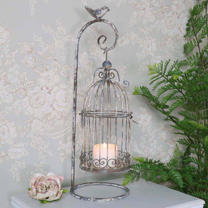 Vintage Birdcage Candle Holder