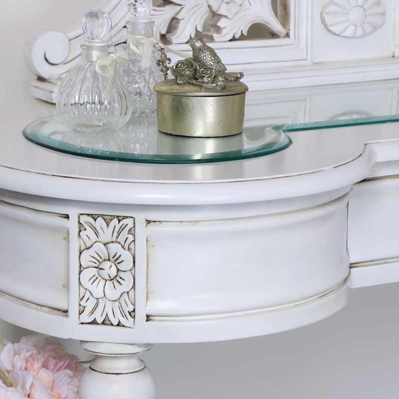 Vintage Cream Dressing Table with Mirror - Limoges Range