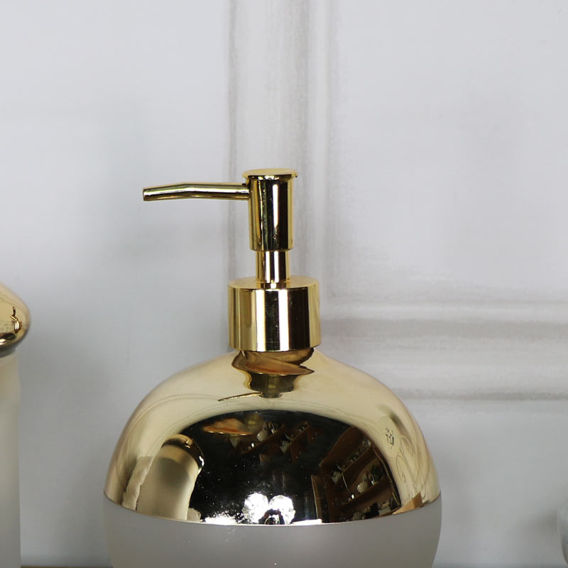 Vintage Gold Frosted Soap Dispenser