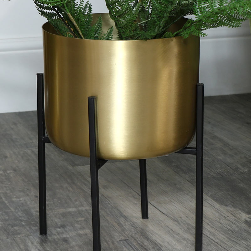 Vintage Gold Plant Stand - Large