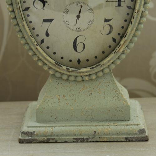 green mantle clock