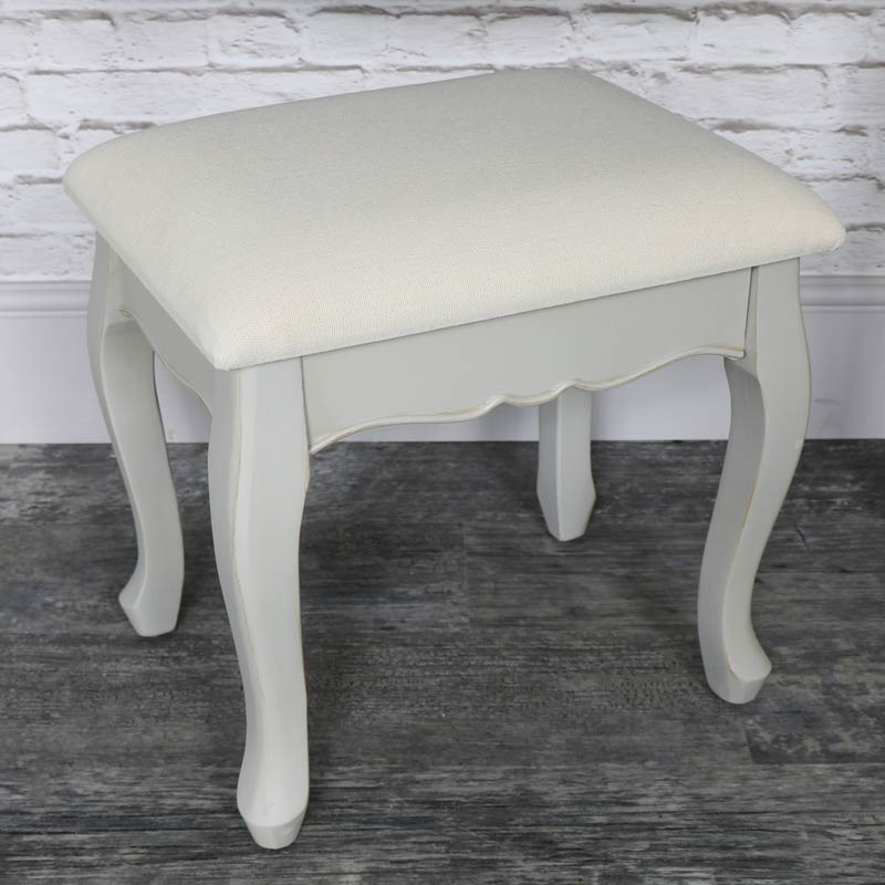 Vintage Grey Dressing Table and Stool Set - Albi Range