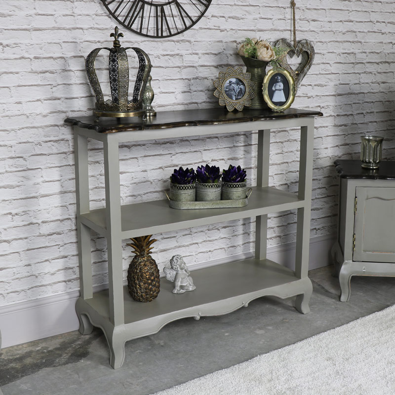 vintage grey sideboard console table leadbury range. Black Bedroom Furniture Sets. Home Design Ideas