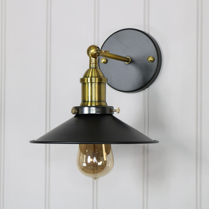 Wall Lights Adjustable : Vintage Industrial Style 1 Arm Adjustable Wall Light - Melody Maison