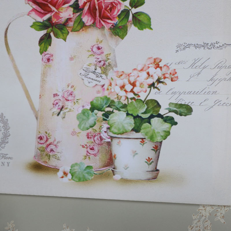 Vintage Jug Of Flowers Wall Canvas