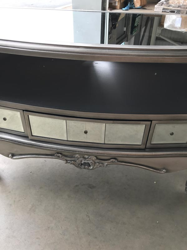 Vintage Mirrored TV Cabinet - Tiffany Range DAMAGED SECONDS ITEMS 3100