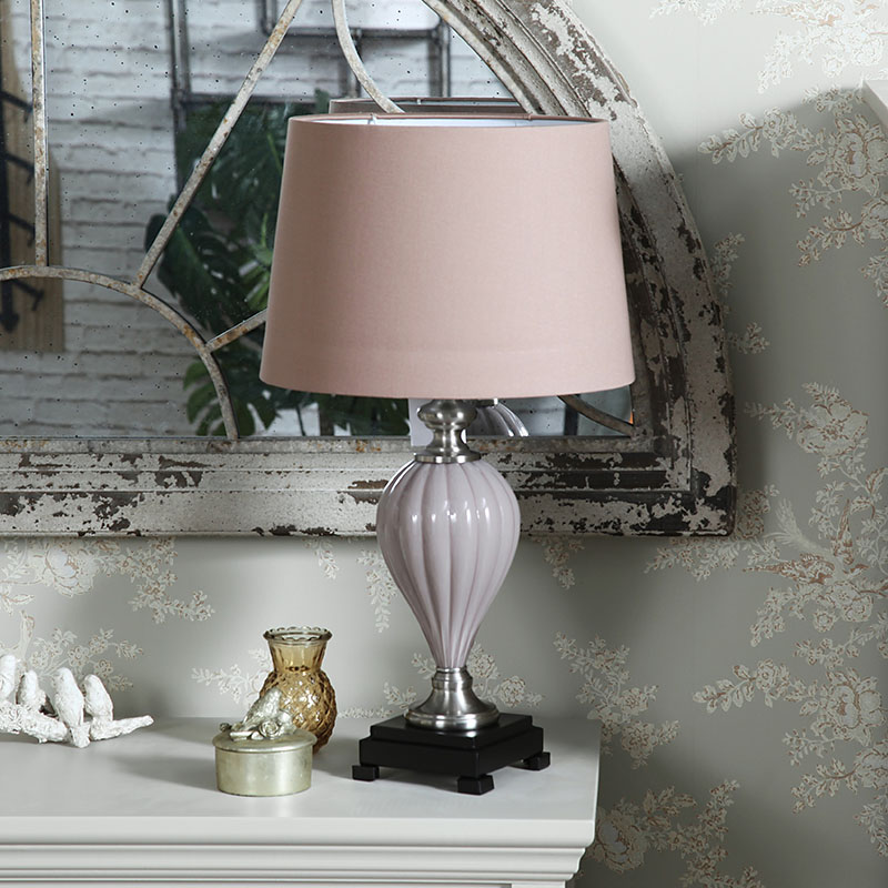 Vintage Pink Table Lamp with Shade