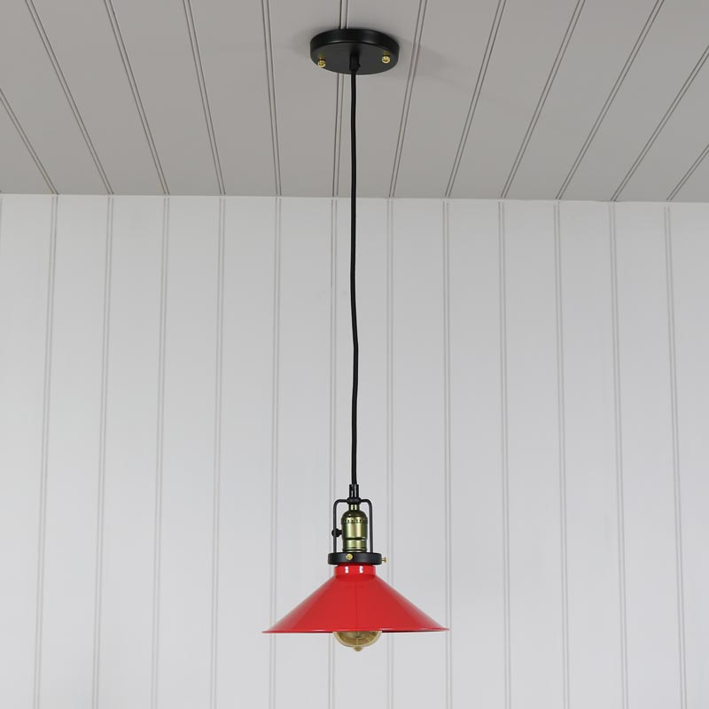 Vintage Red Ceiling Pendant Light Retro Loft Living
